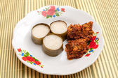 Lemang & Rendang ready to eat on Eid Festival — 图库照片