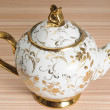 Fancy Gold Decorated Teapot  — Stock Photo