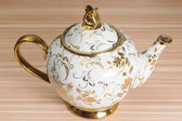 Fancy Gold Decorated Teapot — Stockfoto