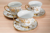 Fancy Cup & Saucer Isolated — Stock Photo