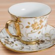 图库照片: Fancy Cup & Saucer Isolated