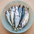 Stock Photo: Raw Fish in bowl isolated