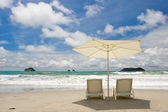 Two Chairs at the Beach — Stock Photo
