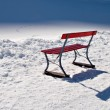 Bench in Snow — Stock Photo