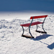 Stock Photo: Bench in Snow