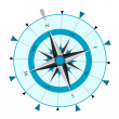 Stock Vector: Compass Wind Rose