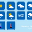 Collection of Weather Signs — Stock Vector