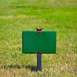 Stock Photo: Green Sign