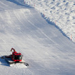 Snow Cleaning on Ski Slopes — Stock Photo