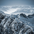 Snowy Mountains in the Swiss Alps — Stok fotoğraf