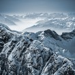 Snowy Mountains in the Swiss Alps — Stock fotografie
