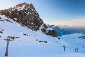 Ski Slopes in the Alps — Foto Stock