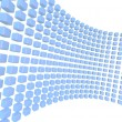 Blue transparent cubes wall on space — Stock Photo