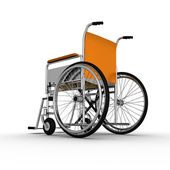 Wheelchair Isolated on White Background — Stock Photo