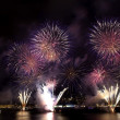 Stock Photo: Fireworks on Bosporus bridge