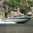 Speedboat on Wolf Creek (2) — Stock Photo