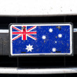 Australian flag on bumper — Stock Photo