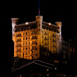 Zdjęcie stockowe: Gstaad Palace hotel lit up by floodlights