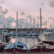 Sunset at the port — Stock Photo #38990521