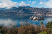 Landscape Lake Orta — Stock Photo