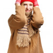 Smiling woman in winter clothing — Stock Photo