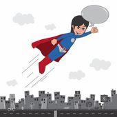 Cartoon comic superhero — Stock Vector