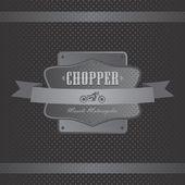 Chopper motorcycle label — Wektor stockowy