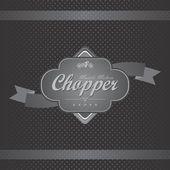 Chopper motorcykel etikett — Stockvektor