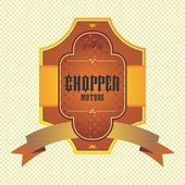 Chopper motorcycle label — Stock Vector
