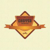 Chopper motorcycle label — Stockvektor