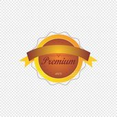 Vintage product label sticker — Stock Vector