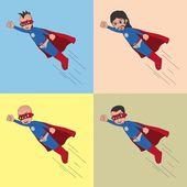 Superhero cartoon — Stock Vector