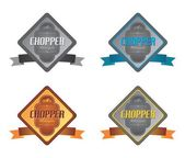 Etiqueta de la motocicleta chopper — Vector de stock