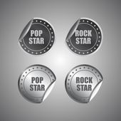 Vintage theme label sticker — Stock Vector