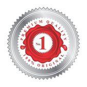 Vintage red wax stamp label theme — Stock vektor