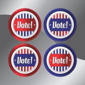 Vote election theme label — Stockvector