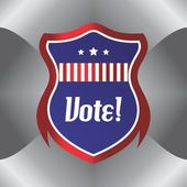 Shield vote election theme label — Vetorial Stock