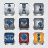 Camera device theme — Stock Vector
