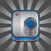 Tema de dispositivo de câmera — Vetor de Stock