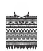 Native american pattern art tattoo theme — Stock Vector