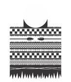 Native american pattern art tattoo theme — Stockvector