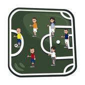 Soccer illustration theme — Stock Vector