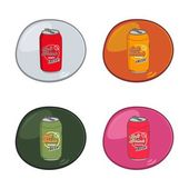Soft drink can — Stock Vector