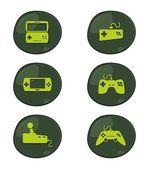Game icon button set — Stock Vector