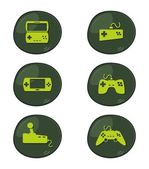Game console art — Stock Vector