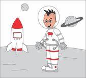 Cartoon character art theme — Stock Vector