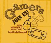 Gamer club art poster — Stock Vector