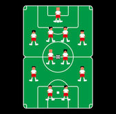 Soccer theme field — Wektor stockowy