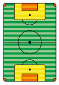 Grunge soccer playing field — Stock Vector