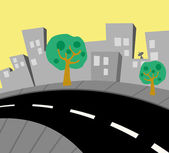 City street view — Stock Vector